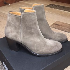 Barney's New York Taupe Suede Bootie